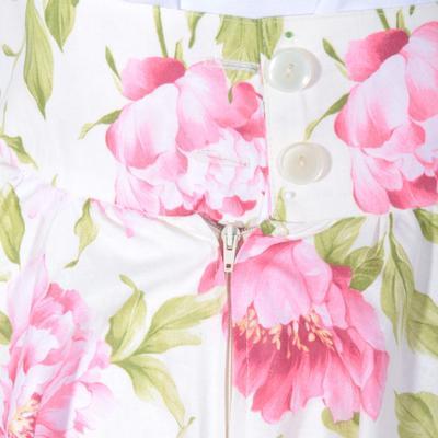 Květovaná retro dámská sukně Pivoňky  - 3