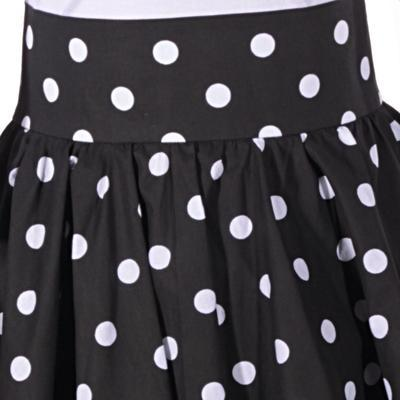 Retro dámská sukně Black černý puntík - 3