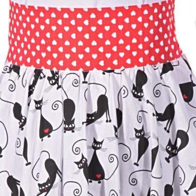 Retro dámská sukně Cat černá kočka - 3