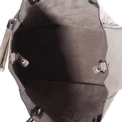 Atraktivní dámská kabelka Rosi šedá - 3