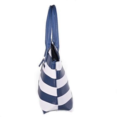 Pruhovaná dámská kabelka Lerry modrá - 3
