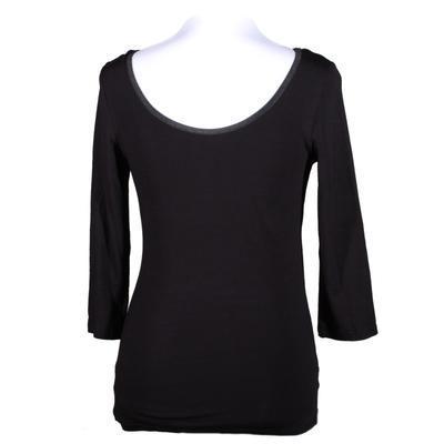 Černé tričko s midi rukávem Mia - 3