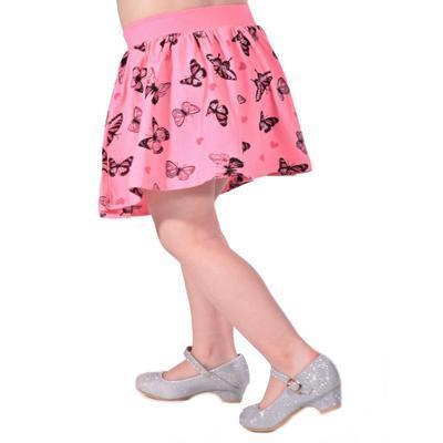 Dětská sukně s motýlama Stela světle růžová - 3