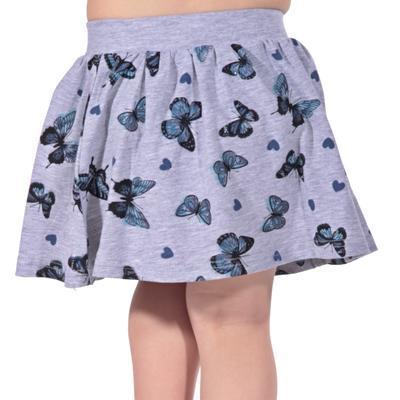 Dětská sukně s motýlama Stela šedá - 3