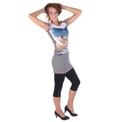 Pruhované dámské letní šaty Landy - 3