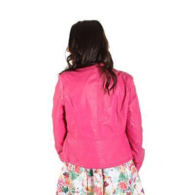 Koženková bunda Lionela růžová - 3