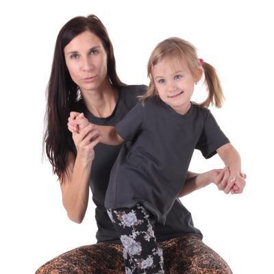 Šedé dětské tričko krátký rukáv Laura od 98-116 - 3