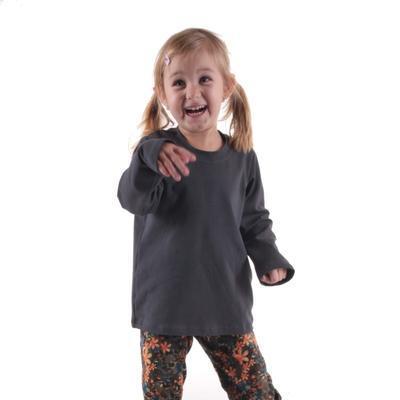 Dětské tričko dlouhý rukáv Marlen šedé od 98-116 - 3
