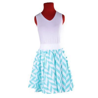 Modrá kolová sukně Katy - 3