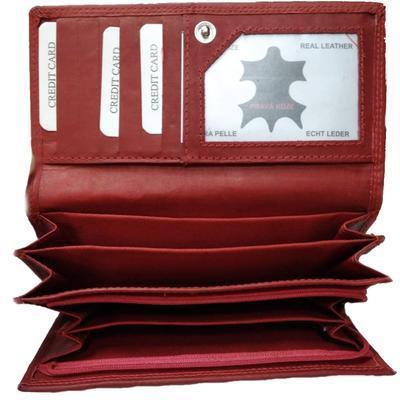 Dámská luxusní peněženka Esther červená - 3