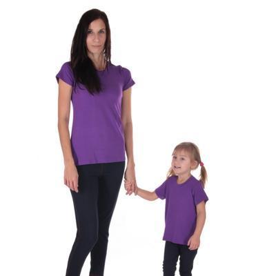 Fialové dětské tričko krátký rukáv Laura od 98-116 - 3