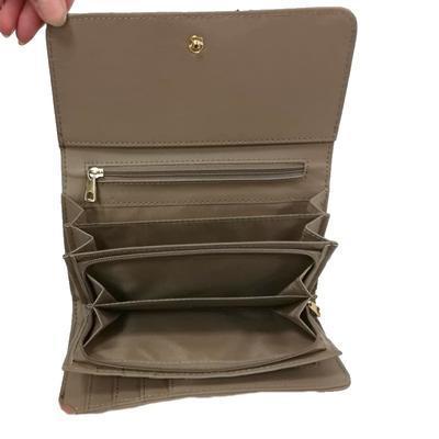 Hnědá luxusní dámská peněženka Ellini - 3