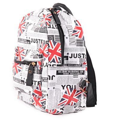Stylový batoh s potiskem Just černý - 3
