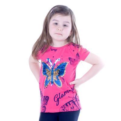 Dívčí  komplet - měnící tričko a 3/4 legíny Ester - 3