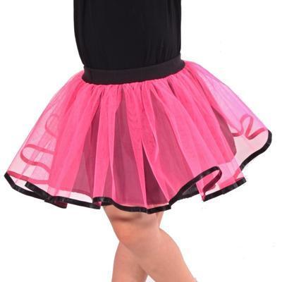 Dívčí tylová tutu sukně Nesy neonově růžová - 3