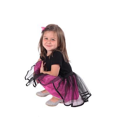 Dívčí tylová tutu sukně Nesy tmavě růžová - 3