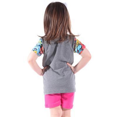 Šedé dětské tričko Sam - 3