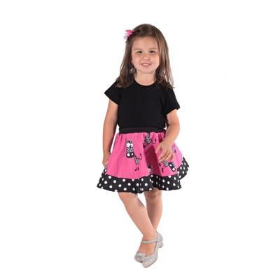 Dívčí kolová sukně Zebra - 3
