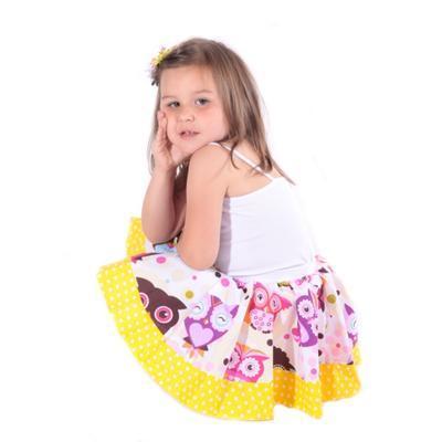 Dívčí kolová sukně Sova  - 3