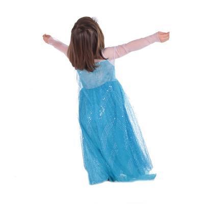 Karnevalový kostým princezna Elsa modrý - XS, XS - 3