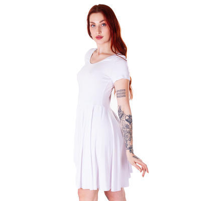 Bílé jednobarevné šaty Scarlet - 4