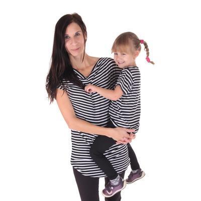 Pruhované tričko krátký rukáv Elvira od 122-146 - 4