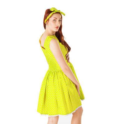 Zelené šaty Elisha s puntíky - 4