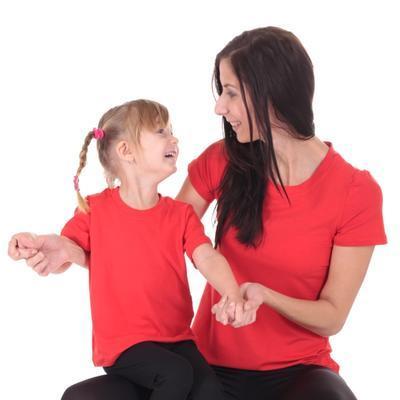 Červené dětské tričko krátký rukáv Laura od 122-146 - 4