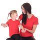 Červené dětské tričko krátký rukáv Laura od 122-146 - 4/5