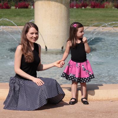 Dívčí růžová kolová sukně Magda se zebrami - 4