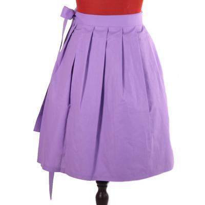 Fialová zavinovací sukně Ammy bez potisku - 4