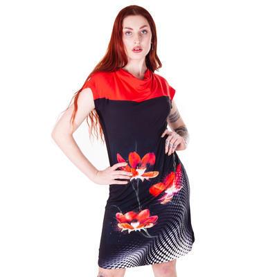 Černé šaty Aylin s potiskem - 4