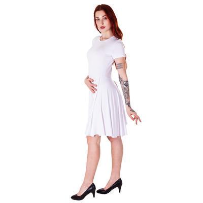 Bílé šaty bez potisku Tanasis - 4