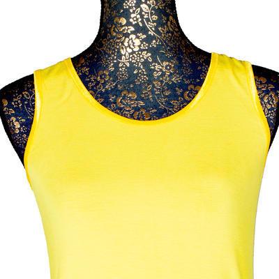 Žluté tričko s širokými ramínky Jolana - 4