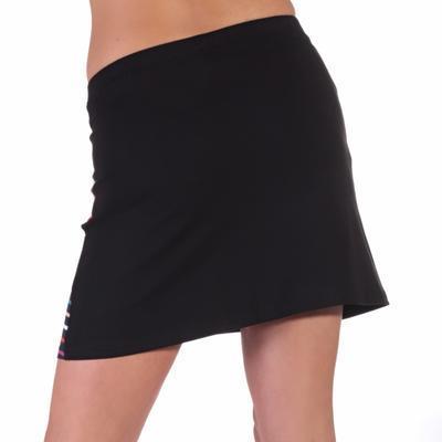 Moderní černá sukně s potiskem Rose - 4