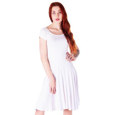 Bílé jednobarevné šaty Zaira - 4