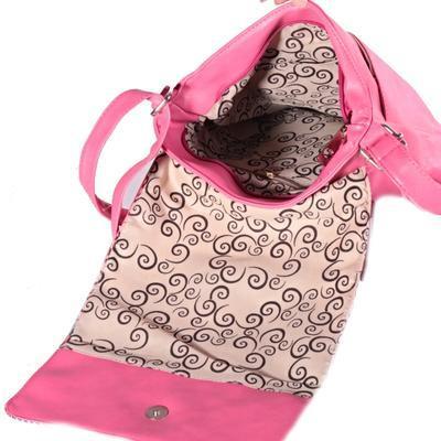 Stylová dámská kabelka Erika růžová - 4