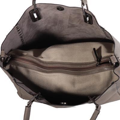 Atraktivní dámská kabelka Rosi šedá - 4