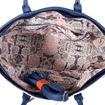 Pruhovaná dámská kabelka Lerry modrá - 4