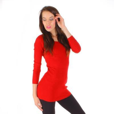 Červený úpletový svetr Rafael - 4