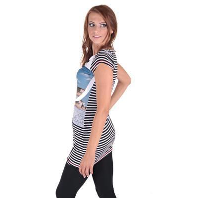 Pruhované dámské letní šaty Landy - 4
