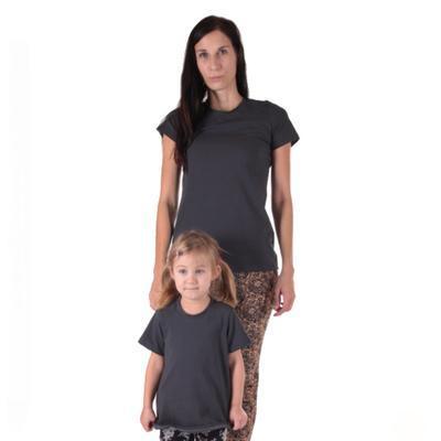 Šedé dětské tričko krátký rukáv Laura od 98-116 - 4
