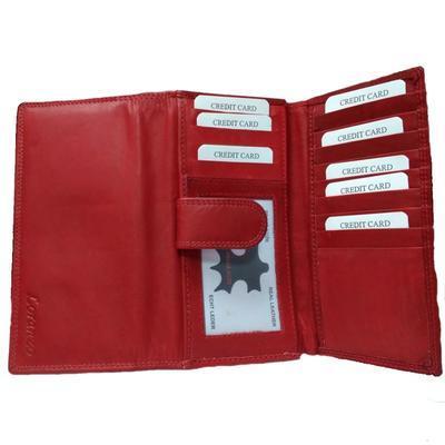 Dámská luxusní peněženka Esther červená - 4