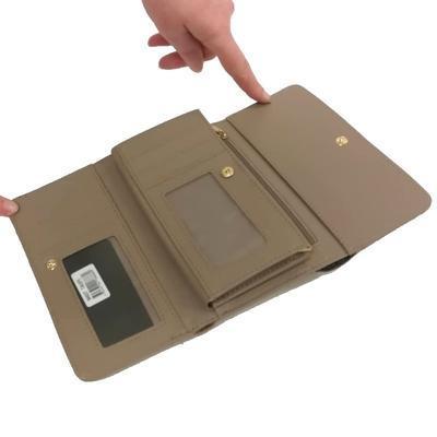 Hnědá luxusní dámská peněženka Ellini - 4
