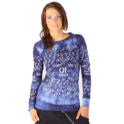 Batikovaná mikina Carolin modrá - 4
