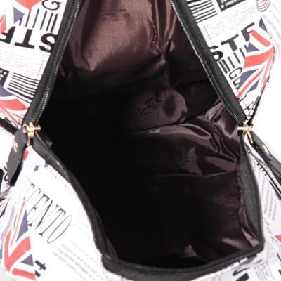 Stylový batoh s potiskem Just černý - 4