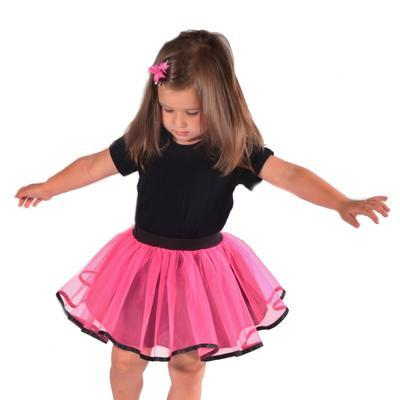 Dívčí tylová tutu sukně Nesy neonově růžová - 4