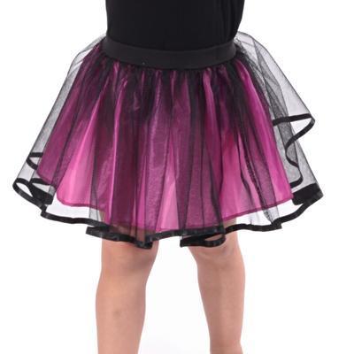 Dívčí tylová tutu sukně Nesy tmavě růžová - 4