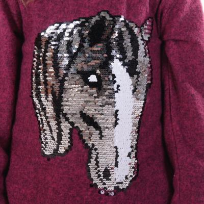 Dívčí svetr s měnícím obrázkem Pedro růžové - 164, 164 - 4