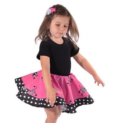 Dívčí kolová sukně Zebra - 4